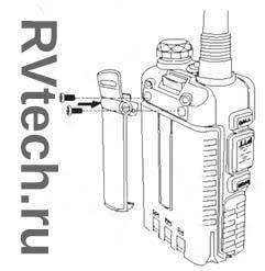 Baofeng UV-5R установка клипсы