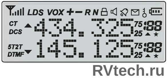 Инструкция по эксплуатации на русском языке Baofeng UV-5R жидко-кристаллический дисплей