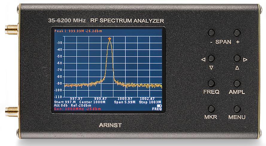 Arinst SSA-TG R2 портативный анализатор спектра