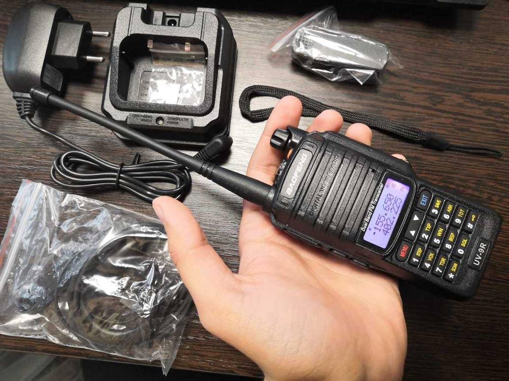 Рация Baofeng UV-9R Plus 8W,1800 мАч UHF/VHF, IP67