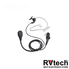 EAM12 - Гарнитура однопроводная с РТТ и встроенным микрофоном, с VOX , с прозрачной акустической трубкой, Купить EAM12 - Гарнитура однопроводная с РТТ и встроенным микрофоном, с VOX , с прозрачной акустической трубкой в магазине РадиоВидео.рф, Гарнитура