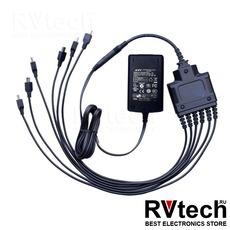 PS4001 - Разветвитель miniUSB для зарядки 6 радиостанций с адаптером сети переменного тока 220В, Купить PS4001 - Разветвитель miniUSB для зарядки 6 радиостанций с адаптером сети переменного тока 220В в магазине РадиоВидео.рф, Зарядные устройства