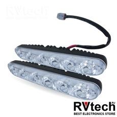 Дневные ходовые огни (DRL) AVS DL-6B (6W, 6 светодиодов х 2 шт.), Купить Дневные ходовые огни (DRL) AVS DL-6B (6W, 6 светодиодов х 2 шт.) в магазине РадиоВидео.рф, Светотехника
