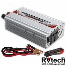 Инвертор автомобильный 12/220V AVS IN-1000W, Купить Инвертор автомобильный 12/220V AVS IN-1000W в магазине РадиоВидео.рф, Преобразователи напряжения