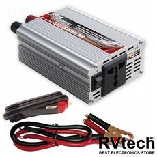 Инвертор автомобильный 12/220V AVS IN-400W, Купить Инвертор автомобильный 12/220V AVS IN-400W в магазине РадиоВидео.рф, Преобразователи напряжения