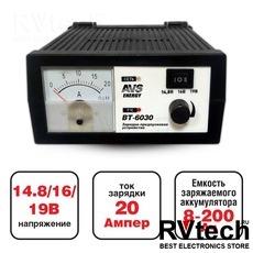Зарядное устройство для автомобильного аккумулятора AVS BT-6030 (20A) 12V, Купить Зарядное устройство для автомобильного аккумулятора AVS BT-6030 (20A) 12V в магазине РадиоВидео.рф, Зарядные устройства для АКБ
