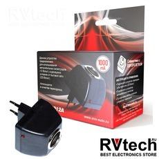Cетевой адаптер (переходник сеть-прикуриватель) 1000mAh AVS AD-22012A, Купить Cетевой адаптер (переходник сеть-прикуриватель) 1000mAh AVS AD-22012A в магазине РадиоВидео.рф, Преобразователи напряжения