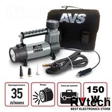 Компрессор автомобильный AVS KS350L, Купить Компрессор автомобильный AVS KS350L в магазине РадиоВидео.рф, Компрессоры и манометры