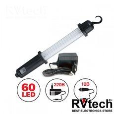 Светильник переносной AVS CD607A (60LED) 220/12B (акб), Купить Светильник переносной AVS CD607A (60LED) 220/12B (акб) в магазине РадиоВидео.рф, Светотехника