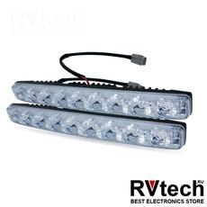 Дневные ходовые огни (DRL) AVS DL-9A (9W, 9 светодиодов х 2 шт.), Купить Дневные ходовые огни (DRL) AVS DL-9A (9W, 9 светодиодов х 2 шт.) в магазине РадиоВидео.рф, Светотехника