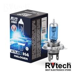 Лампа галогенная AVS ATLAS BOX /5000К/ H4.12V.60/55W (1 шт.), Купить Лампа галогенная AVS ATLAS BOX /5000К/ H4.12V.60/55W (1 шт.) в магазине РадиоВидео.рф, AVS ATLAS BOX
