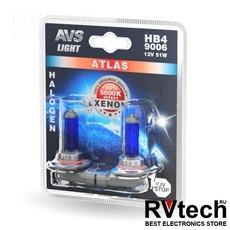 Лампа галогенная AVS ATLAS /5000К/ HB4/9006.12V.55W (блистер, 2 шт.), Купить Лампа галогенная AVS ATLAS /5000К/ HB4/9006.12V.55W (блистер, 2 шт.) в магазине РадиоВидео.рф, AVS ATLAS