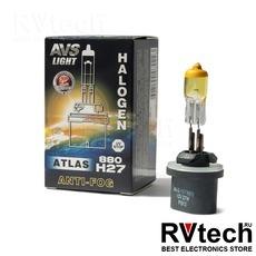 Галогенная лампа AVS ATLAS ANTI-FOG BOX желтый H27/880 12V.27W (коробка-1шт.), Купить Галогенная лампа AVS ATLAS ANTI-FOG BOX желтый H27/880 12V.27W (коробка-1шт.) в магазине РадиоВидео.рф, AVS ATLAS ANTI-FOG