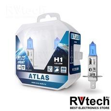 Лампа галогенная AVS ATLAS PB /5000К/ H1.12V.55W Plastic box -2 шт., Купить Лампа галогенная AVS ATLAS PB /5000К/ H1.12V.55W Plastic box -2 шт. в магазине РадиоВидео.рф, AVS ATLAS PB