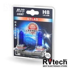 Лампа галогенная AVS ATLAS /5000К/ H8.12V.35W (блистер, 2 шт.), Купить Лампа галогенная AVS ATLAS /5000К/ H8.12V.35W (блистер, 2 шт.) в магазине РадиоВидео.рф, AVS ATLAS