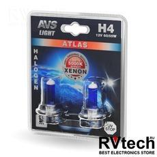 Лампа галогенная AVS ATLAS /5000К/ H4.12V.60/55W (блистер, 2 шт.), Купить Лампа галогенная AVS ATLAS /5000К/ H4.12V.60/55W (блистер, 2 шт.) в магазине РадиоВидео.рф, AVS ATLAS