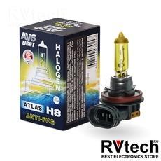 Галогенная лампа AVS ATLAS ANTI-FOG BOX желтый H8.12V.35W (коробка-1шт.), Купить Галогенная лампа AVS ATLAS ANTI-FOG BOX желтый H8.12V.35W (коробка-1шт.) в магазине РадиоВидео.рф, AVS ATLAS ANTI-FOG