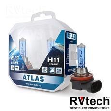 Лампа галогенная AVS ATLAS PB /5000К/ H11.12V.55W Plastic box -2 шт., Купить Лампа галогенная AVS ATLAS PB /5000К/ H11.12V.55W Plastic box -2 шт. в магазине РадиоВидео.рф, AVS ATLAS PB