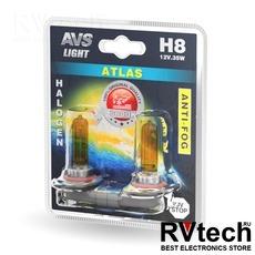 Галогенная лампа AVS /ATLAS ANTI-FOG/желтый H8.12V.35W.блистер-2шт., Купить Галогенная лампа AVS /ATLAS ANTI-FOG/желтый H8.12V.35W.блистер-2шт. в магазине РадиоВидео.рф, AVS ATLAS ANTI-FOG