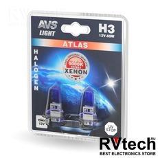 Лампа галогенная AVS ATLAS /5000К/ H3.12V.55W (блистер, 2 шт.), Купить Лампа галогенная AVS ATLAS /5000К/ H3.12V.55W (блистер, 2 шт.) в магазине РадиоВидео.рф, AVS ATLAS