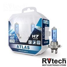 Лампа галогенная AVS ATLAS PB /5000К/ H7.12V.55W Plastic box -2 шт., Купить Лампа галогенная AVS ATLAS PB /5000К/ H7.12V.55W Plastic box -2 шт. в магазине РадиоВидео.рф, AVS ATLAS PB