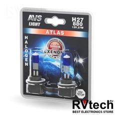 Лампа галогенная AVS ATLAS /5000К/ H27/880 12V.27W (блистер, 2 шт.), Купить Лампа галогенная AVS ATLAS /5000К/ H27/880 12V.27W (блистер, 2 шт.) в магазине РадиоВидео.рф, AVS ATLAS