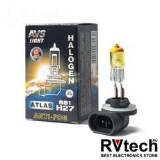 Галогенная лампа AVS ATLAS ANTI-FOG BOX желтый H27/881 12V.27W (коробка-1шт.), Купить Галогенная лампа AVS ATLAS ANTI-FOG BOX желтый H27/881 12V.27W (коробка-1шт.) в магазине РадиоВидео.рф, AVS ATLAS ANTI-FOG