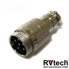 Optim разъём XLR 6-pin (male) для речевого информатора АИР-1.0-4, Купить Optim разъём XLR 6-pin (male) для речевого информатора АИР-1.0-4 в магазине РадиоВидео.рф, Optim