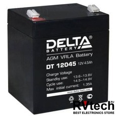 DELTA DT 12045 - Аккумулятор для UPS. 12 V, 4,5 A, Купить DELTA DT 12045 - Аккумулятор для UPS. 12 V, 4,5 A в магазине РадиоВидео.рф, Серия Delta DT