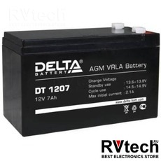 DELTA DT 1207 - Аккумулятор для UPS. 12 V, 7 A, Купить DELTA DT 1207 - Аккумулятор для UPS. 12 V, 7 A в магазине РадиоВидео.рф, Delta DT