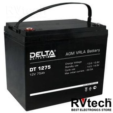 DELTA DT 1275 - Аккумулятор для UPS. 12 V, 75 A, Купить DELTA DT 1275 - Аккумулятор для UPS. 12 V, 75 A в магазине РадиоВидео.рф, Delta DT