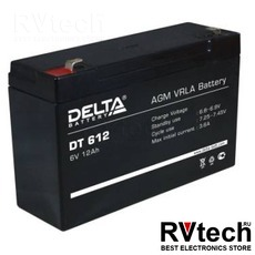 DELTA DT 612 - Аккумулятор для UPS. 6 V, 12 A, Купить DELTA DT 612 - Аккумулятор для UPS. 6 V, 12 A в магазине РадиоВидео.рф, Delta DT