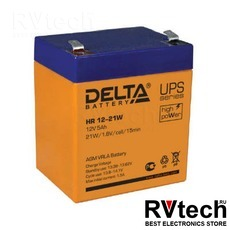 DELTA HR 12-21 W - Аккумулятор для UPS. 12 V, 5 A, Купить DELTA HR 12-21 W - Аккумулятор для UPS. 12 V, 5 A в магазине РадиоВидео.рф, Delta HR