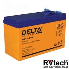 DELTA HR 12-34 W - Аккумулятор для UPS. 12 V, 9 A, Купить DELTA HR 12-34 W - Аккумулятор для UPS. 12 V, 9 A в магазине РадиоВидео.рф, Delta HR