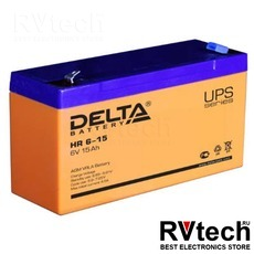 DELTA HR 6-15 - Аккумулятор для UPS. 6 V, 15 A, Купить DELTA HR 6-15 - Аккумулятор для UPS. 6 V, 15 A в магазине РадиоВидео.рф, Аккумулятор Delta HR