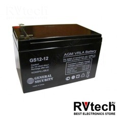 Аккумулятор General Security GS 12v 12ah, Купить Аккумулятор General Security GS 12v 12ah в магазине РадиоВидео.рф, General Security