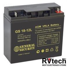 Аккумулятор General Security GS 12v 18ah, Купить Аккумулятор General Security GS 12v 18ah в магазине РадиоВидео.рф, General Security