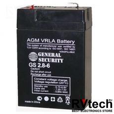 Аккумулятор General Security GS 6v 2,8ah, Купить Аккумулятор General Security GS 6v 2,8ah в магазине РадиоВидео.рф, General Security