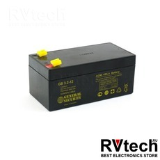 Аккумулятор General Security GS 12v 3,2 ah KL, Купить Аккумулятор General Security GS 12v 3,2 ah KL в магазине РадиоВидео.рф, General Security
