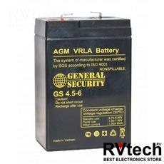 Аккумулятор General Security GS 6v 4,5ah, Купить Аккумулятор General Security GS 6v 4,5ah в магазине РадиоВидео.рф, General Security