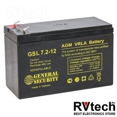 Аккумулятор General Security GS 12v 7,2 ah, Купить Аккумулятор General Security GS 12v 7,2 ah в магазине РадиоВидео.рф, General Security