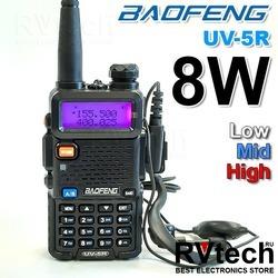 Baofeng UV-5R 8W - 3 Уровня мощности Hi, Mid, Lo, Купить Baofeng UV-5R 8W - 3 Уровня мощности Hi, Mid, Lo в магазине РадиоВидео.рф, Рации Baofeng Китай