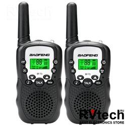 Рация Baofeng BF-T3 UHF black ( комплект из 2ух), Купить Рация Baofeng BF-T3 UHF black ( комплект из 2ух) в магазине РадиоВидео.рф, Рации Baofeng Китай