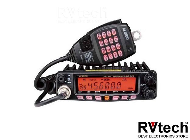 Рация автомобильная ALINCO DR-438 оригинал с доставкой по России, Купить Рация автомобильная ALINCO DR-438 оригинал с доставкой по России в магазине РадиоВидео.рф, UHF/VHF Alinco