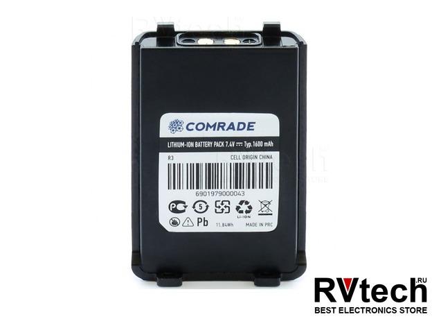 Аккумулятор Comrade R3 для рации Comrade R3, Купить Аккумулятор Comrade R3 для рации Comrade R3 в магазине РадиоВидео.рф, Comrade