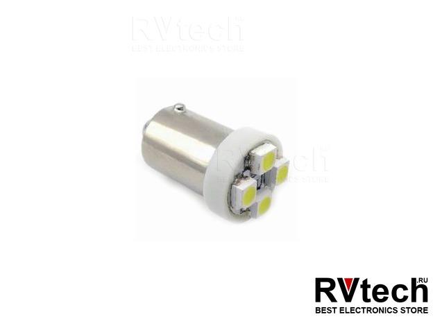 T8 В007 /белый/ (ВА9S) 4SMD 3258 T4W, шт, Купить T8 В007 /белый/ (ВА9S) 4SMD 3258 T4W, шт в магазине РадиоВидео.рф, Светодиодная лампа