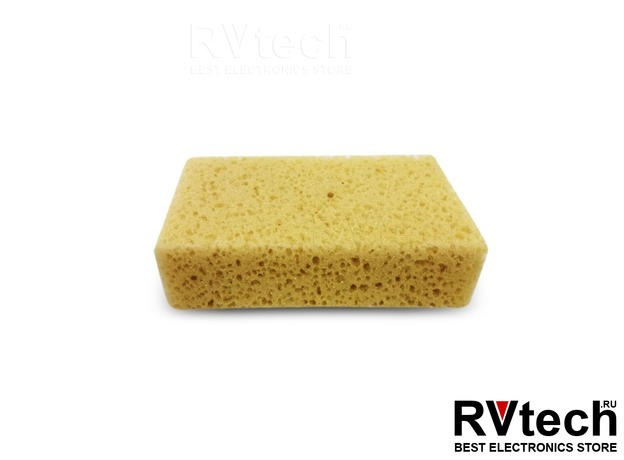 Губка поролоновая (крупнопористая) AVS SP-11 (кирпич) (180x100x50мм), Купить Губка поролоновая (крупнопористая) AVS SP-11 (кирпич) (180x100x50мм) в магазине РадиоВидео.рф, Уход за автомобилем