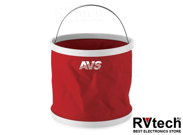 Складное ведро AVS SV-0011, Купить Складное ведро AVS SV-0011 в магазине РадиоВидео.рф, Уход за автомобилем