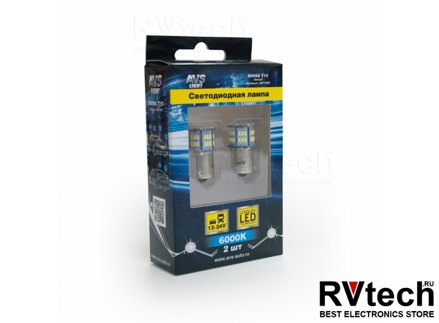 T15 S009A /белый/(BA15S) 54SMD 3014 10-30V 1 contact, коробка 2 шт., Купить T15 S009A /белый/(BA15S) 54SMD 3014 10-30V 1 contact, коробка 2 шт. в магазине РадиоВидео.рф, Светодиодная лампа