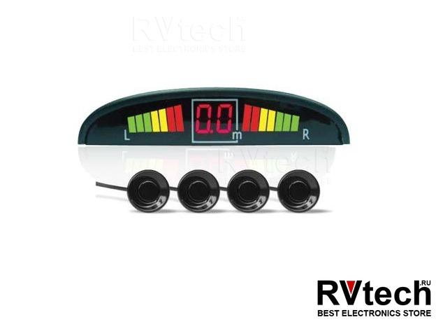 Парктроник AVS PS-124U (4 датчика, светодиодный дисплей), Купить Парктроник AVS PS-124U (4 датчика, светодиодный дисплей) в магазине РадиоВидео.рф, Автоэлектроника